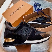 LV LOUIS VUITTON Monogram Run Away Sneakers Shoes