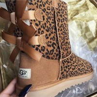 UGG:: bow leather boots boots in tube I-1