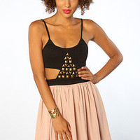 The Pyramid Dress in Nude