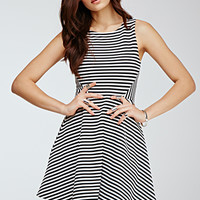 Flared Stripe Dress