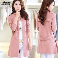 Women Belted Coat Cardigan