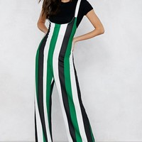 Straight Off Striped Jumpsuit
