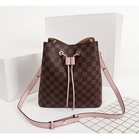 LV Louis Vuitton Women's Leather Shoulder Bag Satchel Tote Bag Handbag Shopping Leather Tote Crossbody Satchel Shouder Bag