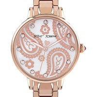 SLIM SOPHISTICATES PAISLEY ROSE GOLD WATCH ROSE GOLD