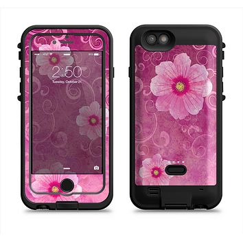 The Pink Vintage Flowers with Swirls  iPhone 6/6s Plus LifeProof Fre POWER Case Skin Kit