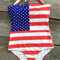 Cupshe Freedom Of Beach Halter One-piece Swimsuit