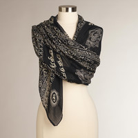 Black and Taupe Prayer Shawl - World Market