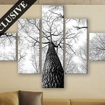 Extra Large Wall Art Nature Fine Art Canvas Wall Decor Modern Wall Hanging Fine Art Print on Canvas Tree Wall Art Poster for Room Decor