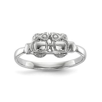 Sterling Silver Two Owls Ring