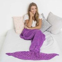 Mermaid Blanket (Purple)