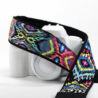 Oasis Ikat Southwestern Camera Strap, dSLR, Digital, Tribal, SLR, 105 cw