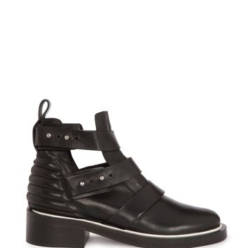 maje EPETER Leather Ankle Bootie at Maje US