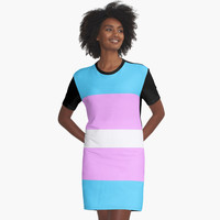 'Transgender Pride' Graphic T-Shirt Dress by ChessJess