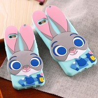 ZOOTOPIA Judy Hopps Silicon Back Case For Samsung Galaxy S5 S6 S7 & iPhone 6 6s/Plus