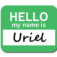 Uriel Hello My Name Is Mouse Pad