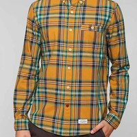 CPO Russel Plaid Button-Down Shirt- Gold