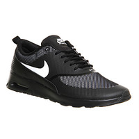 Nike Air Max Thea Black White Jacquard - Hers trainers