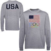 USA Olympics The One Long Sleeve T-Shirt - Gray