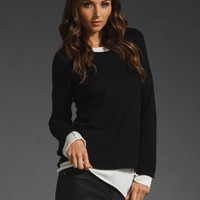 LAURIE B 2 Day Striped Pullover in Black/White at Revolve Clothing - Free Shipping!
