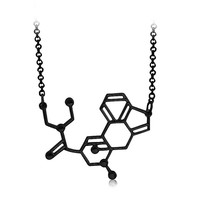 LSD aka acid Chemical Molecule Structure Pendant Necklacen