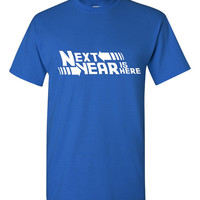 Next year is here Back to the Future Style Chicago Cubs Fan Next year is here Ladies Unisex Ladies T Shirts