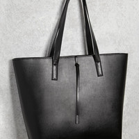 Structured Faux Leather Tote