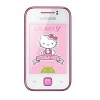 Samsung Galaxy Y S5360/S5363 Unlocked GSM Phone with Android 2.3 OS, Touchscreen, 2MP Camera, GPS, WiFi, Bluetooth, FM Radio and microSD Slot - Hello Kitty
