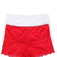Plus 2 Pack Solid with Lace at Leg Boyshort - Deb - 400005131370