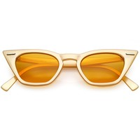 Vintage Inspired Cat Eye Sunglasses Small Color Tinted Square Lens 48m