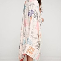 Block Print Beach Towel - Ivory Multi
