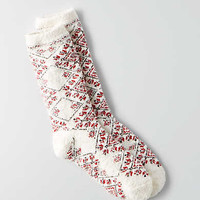 AEO Arrow Diamond Crew Socks , Cream