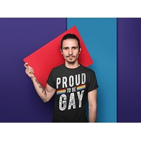 Men's Proud To Be Gay T Shirt LGBT Shirts Gay Pride Shirt Proud T Shirt LGBT Pride T Shirts Grunge Tee