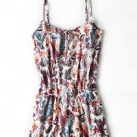 AEO Women's Floral Button Romper
