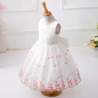 New Lace Vest Girl Dress Baby Girl Princess Dress 3-12 Age Chlidren Clothes Kids Party Costume Ball Gown White PY2 SM6