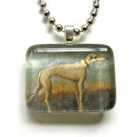 2012 Limited Edition Fawn Greyhound Giovanni Domenico Tiepolo Painting Pendant
