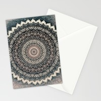 WARM WINTER MANDALA Stationery Cards by Nika