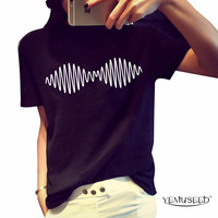 YEMUSEED H208 Summer Women arctic monkeys Print T-shirt Fashion Casual Short Sleeve t shirt Harajuku Tops & Tees