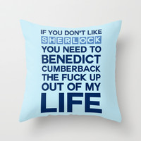 Sherlock Life Throw Pillow by LookHUMAN