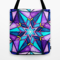Stained Snowflake. Tote Bag by Emiliano Morciano (Ateyo)