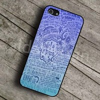 panic at the disco lyric for iPhone 4 4s 5 5s 5c 6 6plus case,Samsung,Xperia,HTC