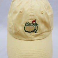 Masters Augusta National American Needle Yellow Logo Slouch Strapback Dad Hat