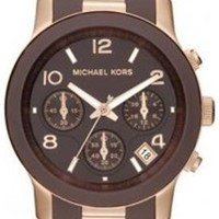 Michael Kors Women's MK5658 Runway Brown & Rose Gold-Tone Stainless Steel Watch