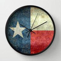 """The State flag of Texas - The """"Lone Star Flag"""" of the """"Lone Star State"""" Wall Clock by LonestarDesigns2020 - Flags Designs +"""