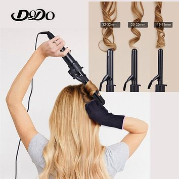 Curling Irons Interchangeable 3 in 1 Electric Hair Curler Set