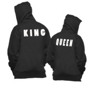 Matching Couple Hoodies King and Queen Couple Sweatshirt Collection