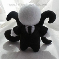 Slenderman Felt Plush second version!