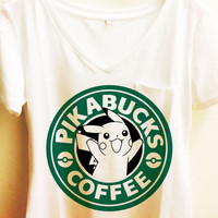 Pikabucks Coffee Shirt | Pikachu Pokemon
