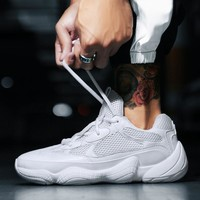 Fashion Vintage Dad Sneakers 2018 Kanye West Light Breathable Mesh Shoes Men Casual Shoes Men Sneakers Zapatos Hombre Shoes