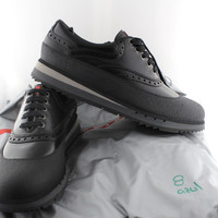 Prada Perforated Leather Sneakers shoes 595$ new