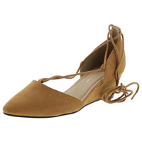 Chinese Laundry Womens Trissa Faux Suede Pointed Toe Pumps
